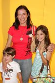 HOLLYWOOD - NOVEMBER 05: Mimi Rogers and son and daughter at Bogart Backstage 2006 Children's Choice