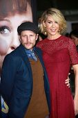 Bodhi Elfman and Jenna Elfman at the