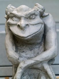 picture of gremlins  - Gargoyle statue taken with emphasis on face and eyes - JPG