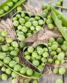 Peas With Heart Shape