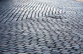 Cobblestone Street Pavement Pattern Closeup