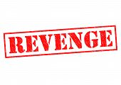 picture of revenge  - REVENGE red Rubber Stamp over a white background - JPG