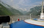 Excursion Boat On The Yangtze River In China
