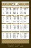 Pocket Calendar 2015, Start On Sundaysize: 2.4