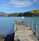 Akaroa Jetty, Canterbury New Zealand