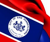 Flag Of Erie, Usa.