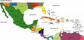 stock photo of gulf mexico  - Central America Regional Map - JPG