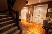 Wooden Floored Hallway In A Luxury Home