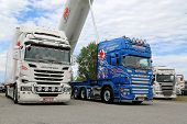 Three Scania Heavy Show Trucks