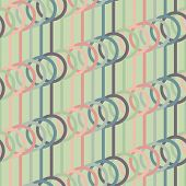 Abstract background with lines and circles. Seamless vector pattern.