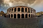Old amphitheater in Verona, Italy, Europe.