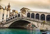 Glorious Rialto bridge in Venice, Italy