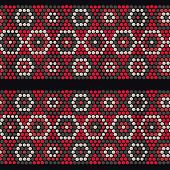 Traditional Ethnic African Ornament. Seamless vector pattern. Beads imitation.