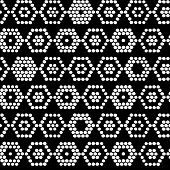 Traditional Ethnic African Ornament. Seamless vector pattern. Monochrome beads imitation.