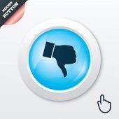 pic of dislike  - Dislike sign icon - JPG