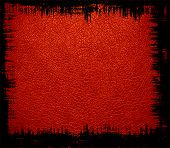 red leather textured background