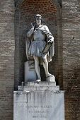 PARMA, ITALY - MAY 01,2014: Antonio da Correggio (1489-1534). italian painter. Statue by Agostino Fe