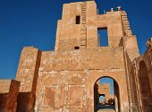 image of libya  - Ancient archaeological ruins in the city of Sabratha Libya - JPG