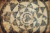 stock photo of libya  - Ancient Roman mosaics in Sabratha Libya - JPG