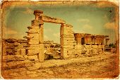 image of libya  - Beautiful views of the archaeological site of Cyrene in Libya - JPG