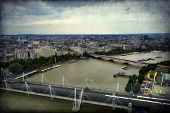 stock photo of willy  - Panorama of London Waterloo Bridge and skyscrapers of the City the River Thames - JPG