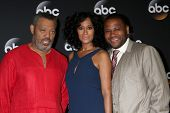 LOS ANGELES - JUL 15:  Laurence Fishburne, Tracee Ellis Ross, Anthony Anderson at the ABC July 2014
