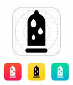 Condom and Water lubrication icon.