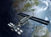 Постер, плакат: Satellite surveying Earth