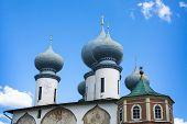 Tikhvin Assumption Monastery in Tikhvin, Russia.
