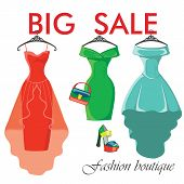 Three Summer Dresses.sale In Fashion Boutique