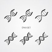 Dna icons set