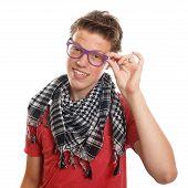 Hipster teenage boy