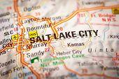 Salt Lake City On A Road Map
