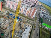 Aerial view on construction site