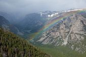 pic of beartooth  - A rainbow over the Beartooth Pass in Montana - JPG