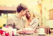 summer holidays, love, travel, tourism, relationship and dating concept - romantic happy couple with
