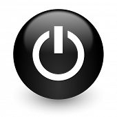 power black glossy internet icon