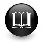 book black glossy internet icon