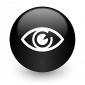 eye black glossy internet icon