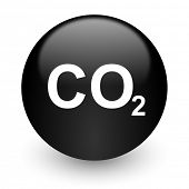 carbon dioxide black glossy internet icon