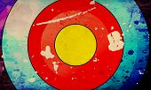 Grunge Illustraction Of Colorful Target