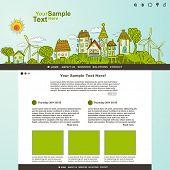 Eco website template illustration, vector