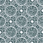 Seamless Pattern Background with floral elements