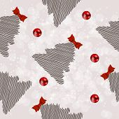 Winter Christmas New Year Seamless Pattern /Beautiful Texture wi