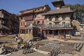 People Who Work Handcrafted Pottery On December 2, 2013 In Bhaktapur, Kathmandu Valley, Nepal.