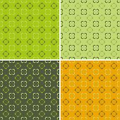 4 Retro Seamless Pattern