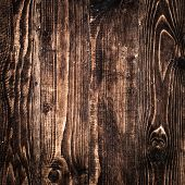 Old closed up of dark texture of black wood
