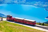 Diesel Train Railway Carriage Going To Schafberg Peak