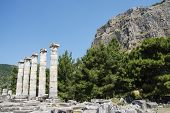 picture of ionic  - Ionic columns of the Temple of Athena Polias in ancient Priene Turkey - JPG