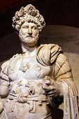 stock photo of emperor  - Roman emperor Hadrian 2nd century CE statue from Perge in Turkey - JPG